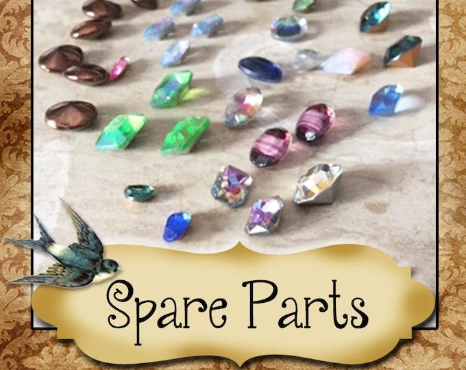 SPARE PARTS•Earring Parts•Necklace Parts•Vintage Components•Set 13