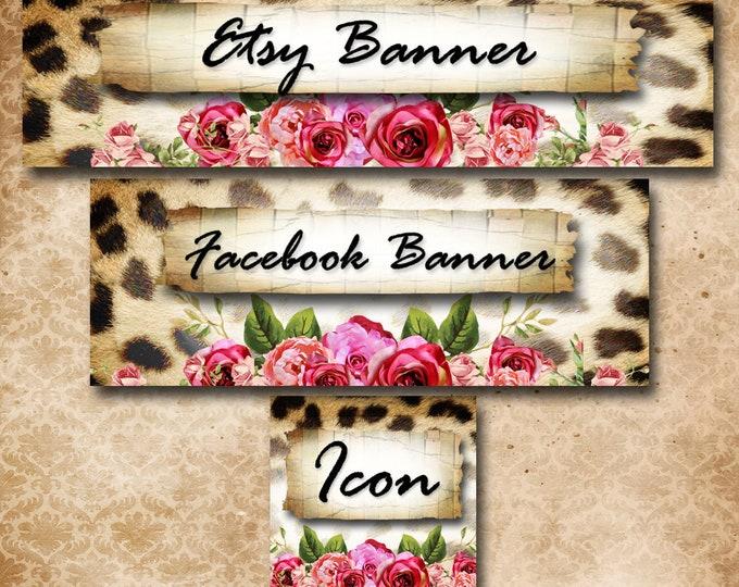 Custom SHOP BANNER Set•Facebook Cover•Wild Spirit Design