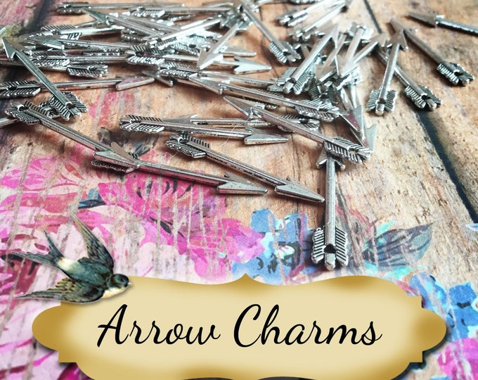 ARROW Charms•Earring Parts•Necklace Parts•Jewelry Components•Jewelry Charms•Sold in sets of 10