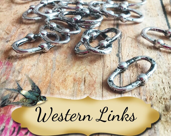 WESTERN LINKS•Earring Parts•Necklace Parts•Jewelry Components•Jewelry Charms•Sold sets of 10