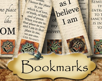 MEDICI•1.5x5 Affirmation BOOKMARKS•Yoga Bookmark•DIY•Printable Digital Images•Gift Tags•Yoga tag•Meditation•Printable Bookmark