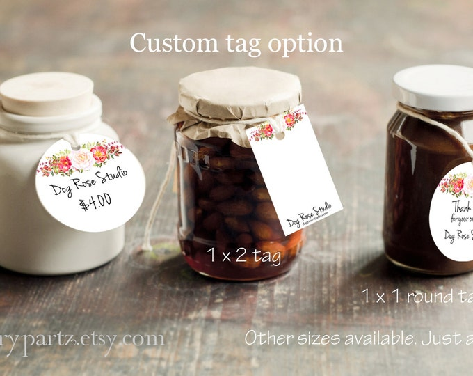 DOG ROSE #1•Custom Tags•Labels•Earring Display•Clothing Tags•Custom Hang Tags•Boutique Card•Tags•Custom Tags•Custom Labels