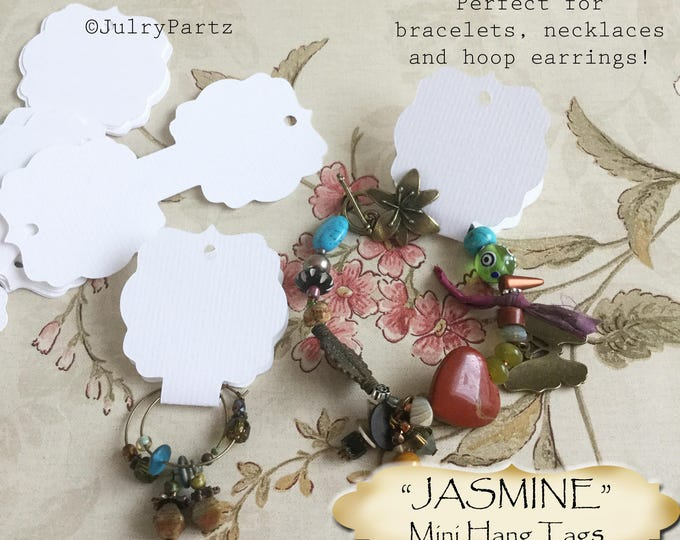 36•4L x 1.75W•JASMINE•Hang Tags•Jewelry Cards•Earring Display•Necklace Tag•Hoop Earring Holder