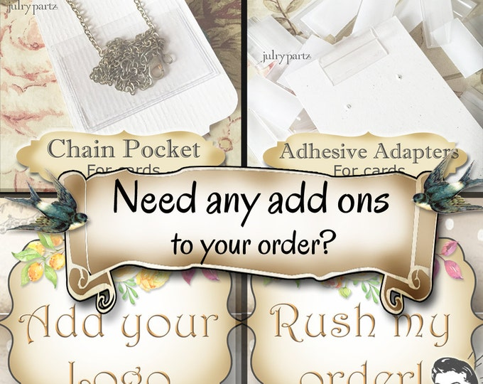 Need Any Additional Items To Add To Your Order?• Card Adapters• Add your Logo• Rush Order• Necklace Pouches