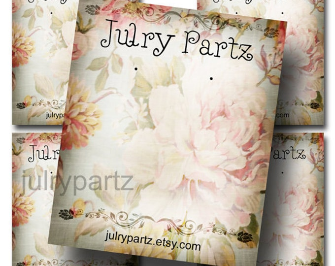 DIY SHABBY #11, Earring Cards, Jewelry cards,Tent Card,Earring Display,Earring Card, Necklace Holder, DIY Jewelry Cards, Printable Cards