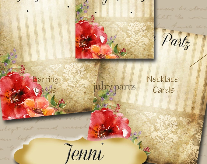 JENNI•Custom Tags•Labels•Earring Display•Clothing Tags•Custom •Boutique Card•Tags•Custom Tags•Custom Labels