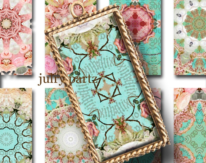 Springtime in Paris, 1x2 images, Printable Digital Images, Cards, Gift Tags, domino, Magnets, junk gypsy