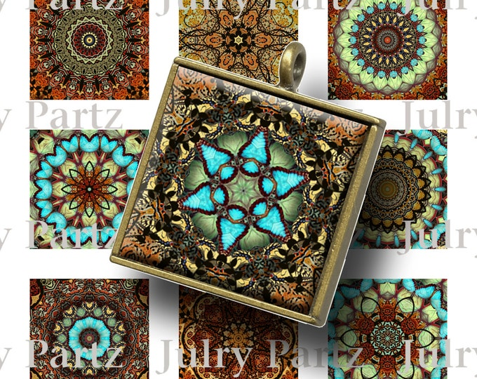 MARRAKECH Healing Mandalas, 1x1 Square, Mandalas,Printable Digital Images, Cards, Gift Tags, Scrabble Tiles, Yoga, Meditation