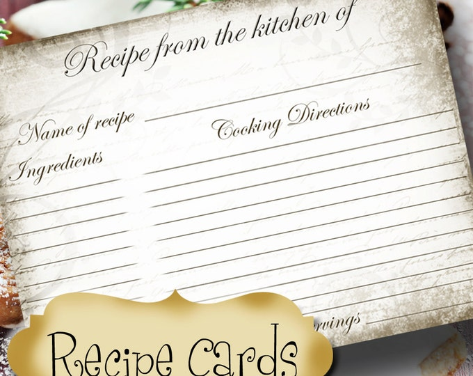 Vintage RECIPE CARD, Recipe Card, Wedding Gift, New Home