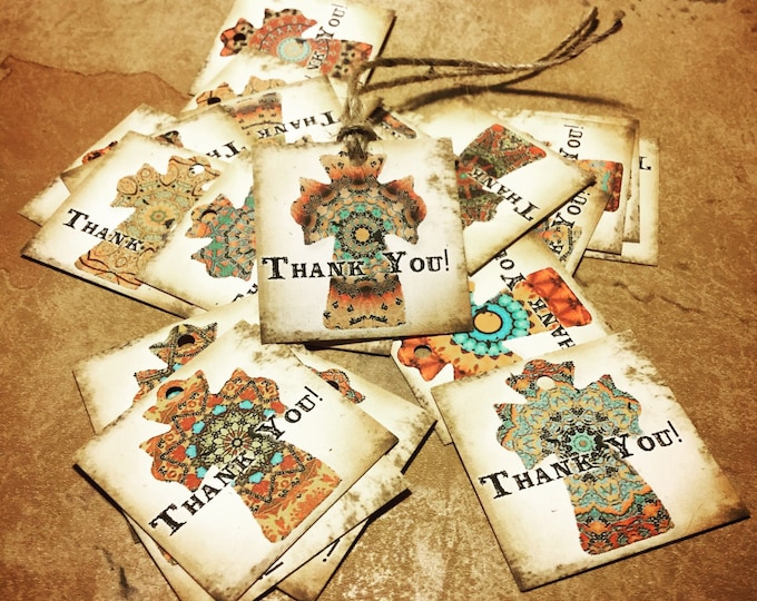 48•COWGIRL Tags•Gift Tags•Paper Tags•Price Tags•Clothing Tags•Thank you for your purchase tags