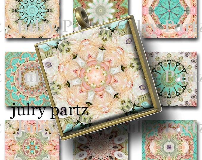 SPRINGTIME in PARIS 1x1 images, Printable Digital Images, Cards, Gift Tags, Scrabble Tiles, Magnets, collage sheets