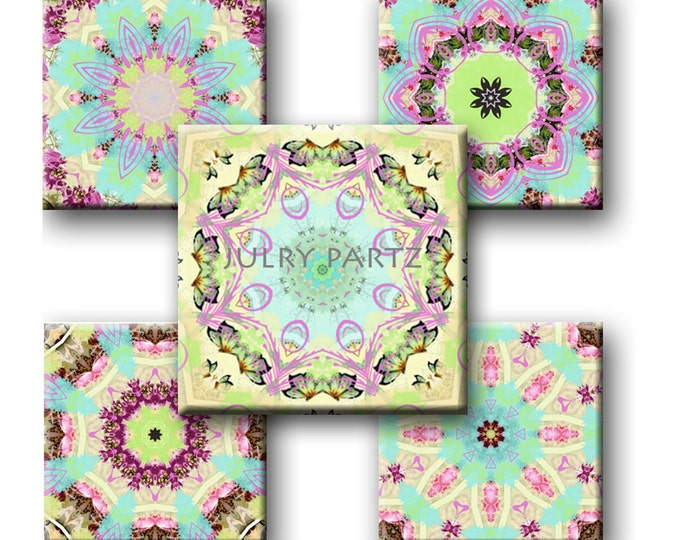SALE Shabby Chic 1x1 images, Printable Digital Images, Cards, Gift Tags, Scrabble Tiles, Magnets