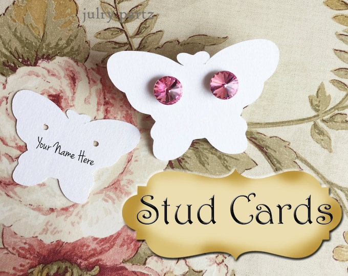 Butterfly•STUD•EARRING Cards•Jewelry Cards•Earring Display•Post Earring Card•Stud card•stud card 14/14a