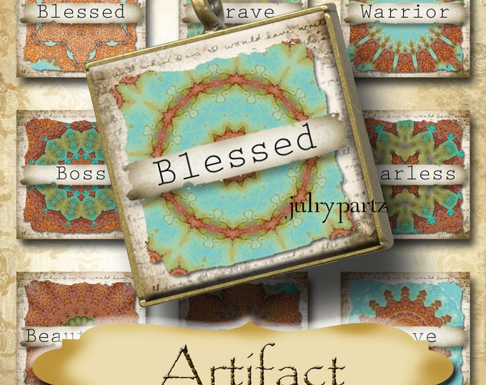 ARTIFACT•1x1 Rustic Quote Square Images•Printable Digital Images•Cards•Gift Tags•Stickers•Magnets•Digital Collage Sheet
