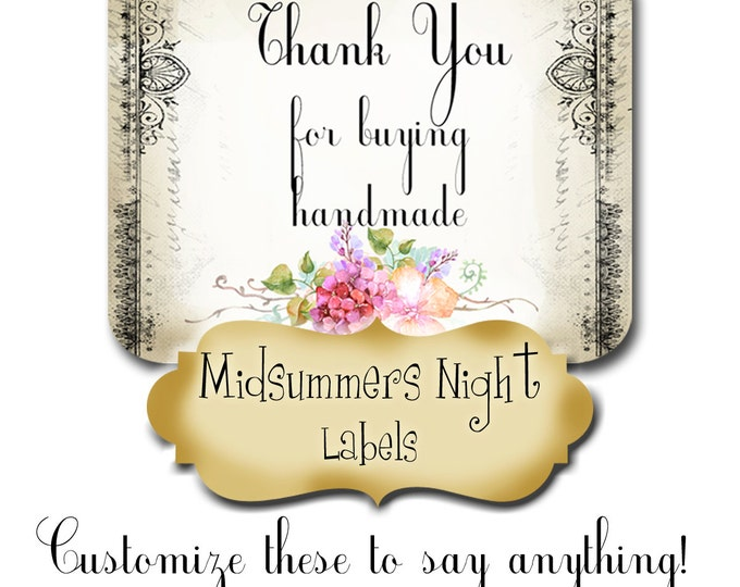 30•CUSTOM STICKERS•Rectangle Labels•Tags•Package Labels•Custom Stickers•Custom Labels•Packaging•Midsummers Night