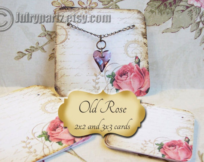 60•OLD ROSE•Necklace and Earring Cards•Jewelry cards•Necklace Card•Display•Earring Holder•Necklace Holder•2x2 or 3x3