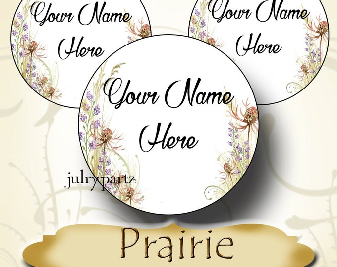 60 Custom 1.5 x 1.5 Round STICKERS•Labels•Tags•Package Labels•Custom Stickers•Custom Labels•Prairie