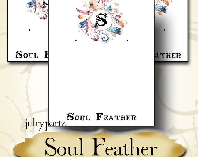 SOUL FEATHER•Earring Cards•Jewelry Card•Earring Display•Earring Holder•Custom Earring Card•Boutique Card•Tags•Custom Tags•Custom Labels