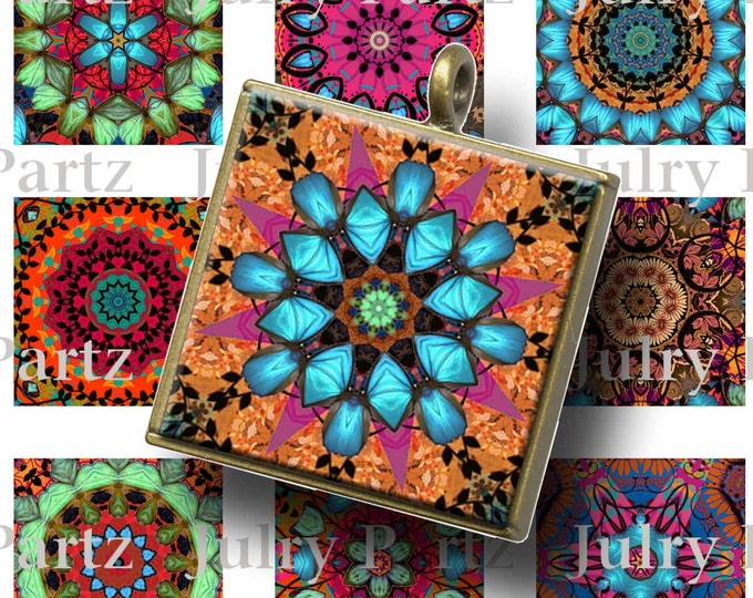 TAPESTRY Healing Mandalas, 1x1 Square , Mandalas,Printable Digital Images, Cards, Gift Tags, Scrabble Tiles, Yoga, Meditation