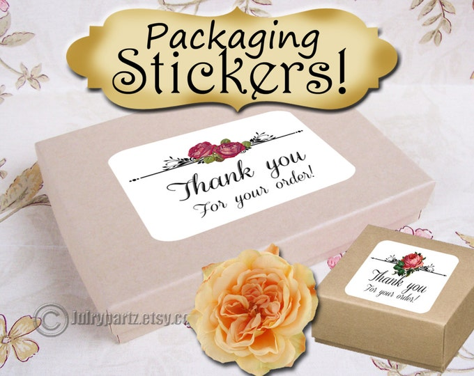 30-Floral Series STICKERS,Rectangle Labels,Tags,Package Labels,Custom Stickers,Custom Labels,Packaging