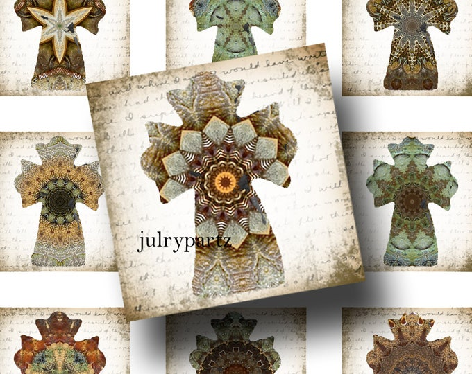 FAE•1x1 Cross Images•Printable Digital Images•Cards•Gift Tags•Stickers•Magnets•Digital Collage Sheet