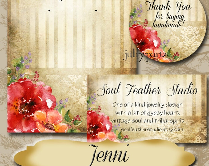 JENNI•Custom Tags•Labels•Earring Display•Clothing Tags•Custom Hang Tags•Boutique Card•Tags•Custom Tags•Custom Labels