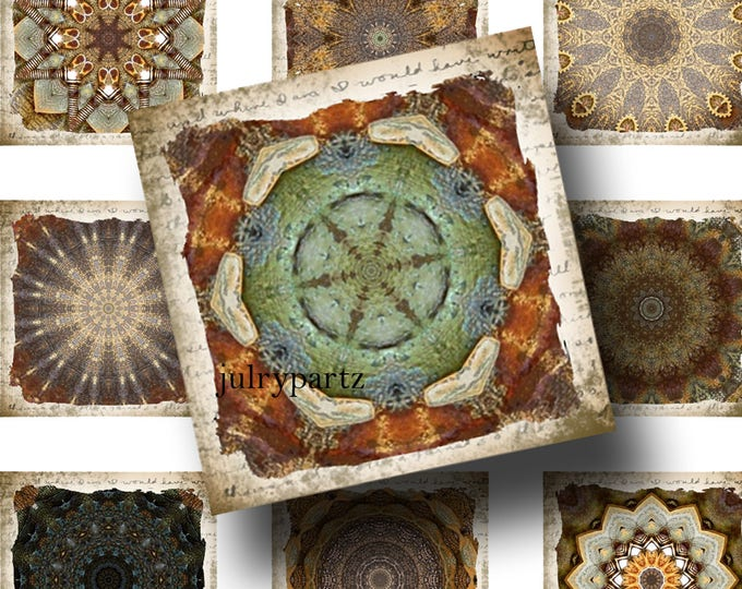 FAE•1x1 Rustic Square Images•Printable Digital Images•Cards•Gift Tags•Stickers•Magnets•Digital Collage Sheet