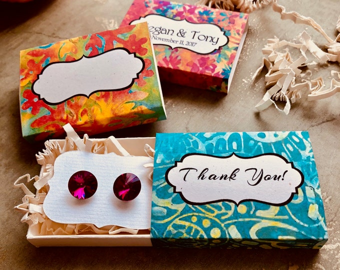 Set of 12 •2x2.60 GIFT BOX•Necklace Box•Jewelry Box•Necklace Holder•Gift Packaging•Earring Holder•Necklace Holder• Boho 2