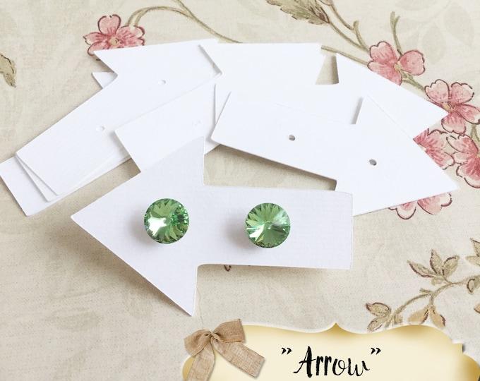 30•2X3•ARROW•EARRING Cards•Jewelry Cards•Earring Display•Post Earring Card•Hoop Earring Card•Lever Earring Card