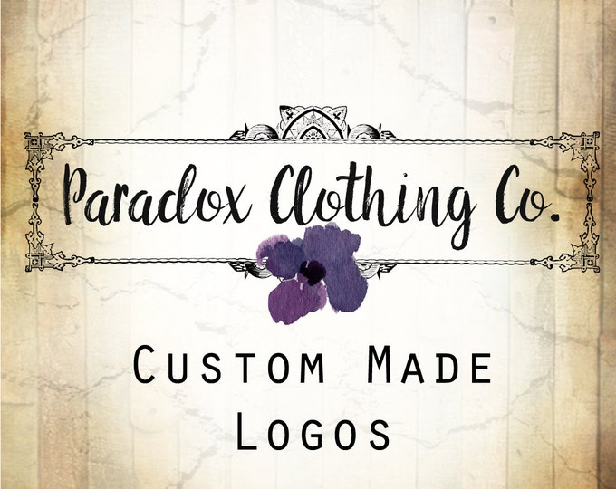 LOGO in PARADOX•Premade Logo•Jewelry Card Logo•Watercolor Logo•Custom Logo•Shop Logo