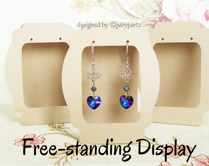 36•Carly•Window •2.5 x 3.5•Free-Standing•EARRING CARDS•Jewelry Cards•Earring Display•Earring Card•Earring Holder