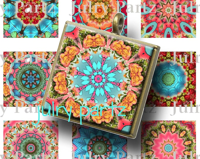 SUMMER in the Hamptons 1x1 images, Mandalas, Printable Digital Images, Cards, Gift Tags, Scrabble Tiles, Magnets