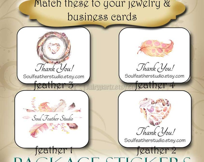 30•FEATHER Series•STICKERS•Rectangle Labels•Package Labels•Custom Stickers•Custom Labels•Packaging