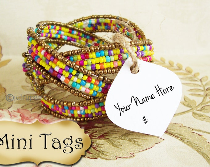 24•MINI TAGS #14 • 1.5 X 1.5 inch•Necklace Tags•Bracelet Tags•Price Tags•Clothing Tags•Favor Tags