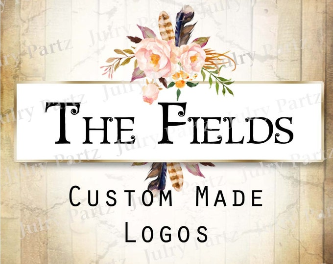 LOGO in The FIELDS (small)•Premade Logo•Jewelry Card Logo•Flower Logo•Custom Logo•Shop Logo