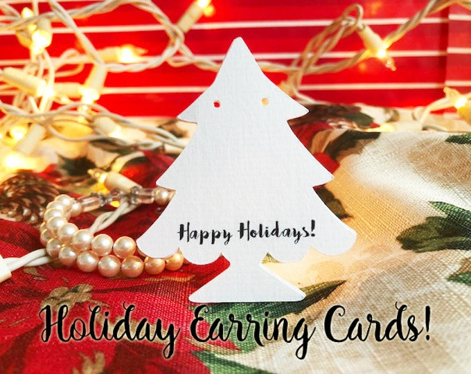 36•CHRISTMAS Trees•Earring Cards•Jewelry cards•Earring Display•Earring Holder•Holiday Display Cards