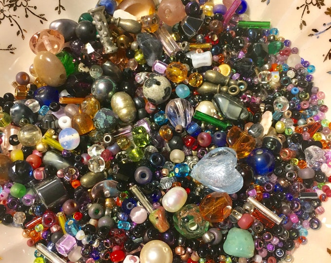 BEAD SOUP, Vintage and New Bead Mix