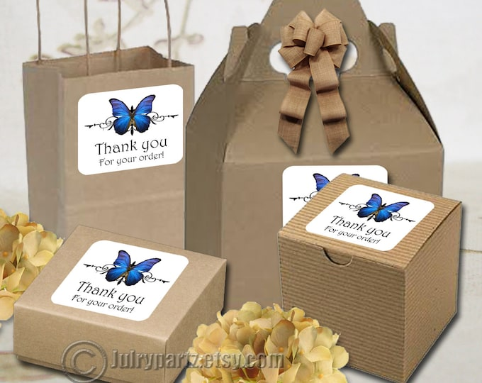 30•BUTTERFLY Series•STICKERS•Rectangle Labels•Package Labels•Custom Stickers•Custom Labels•Packaging