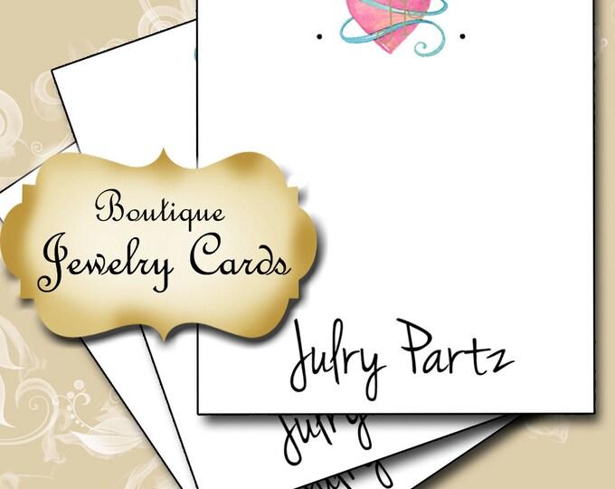 PINK HEART•Earring Cards•Jewelry Card•Earring Display•Earring Holder•Custom Earring Card•Boutique Card