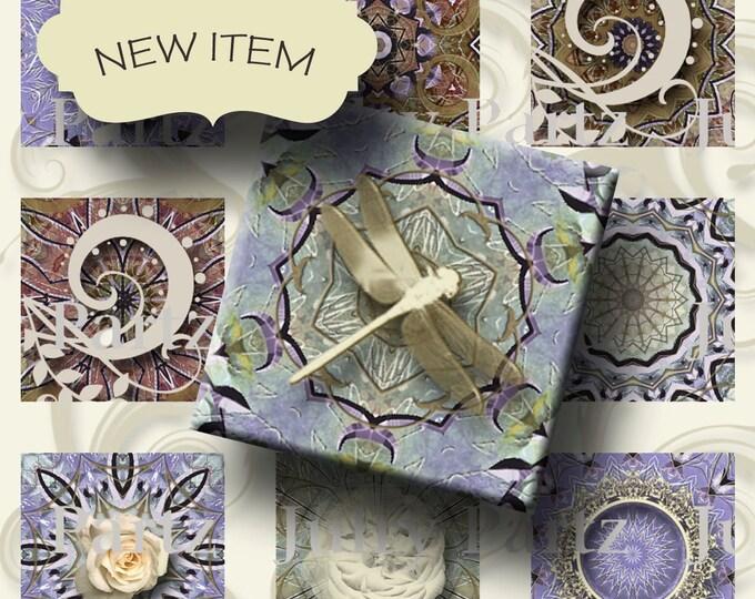 VINTAGE Violet Mix 1x1, Printable Digital Images, Cards, Gift Tags, Scrabble Tiles, Magnets