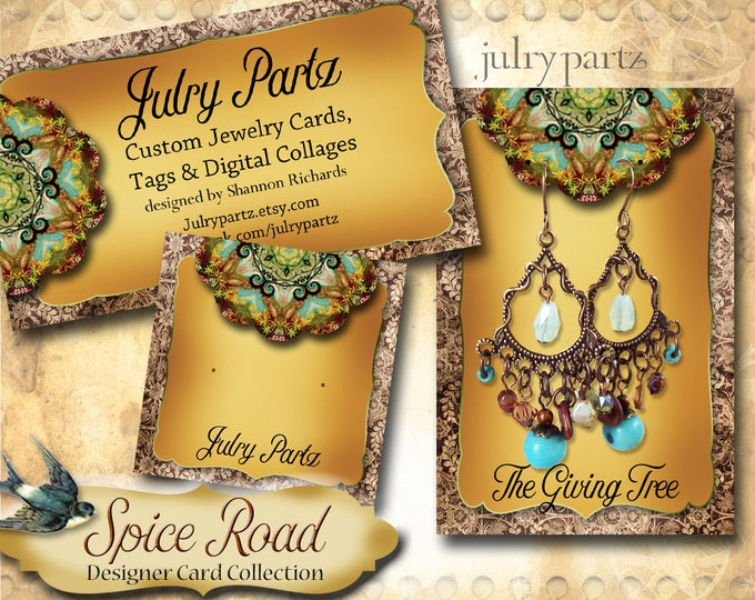 SPICE ROAD 2•Designer Card Collection•Custom Tags•Labels•Earring Display•Clothing Tags•Custom •Boutique Card•Tags•Custom Tags•Custom Labels