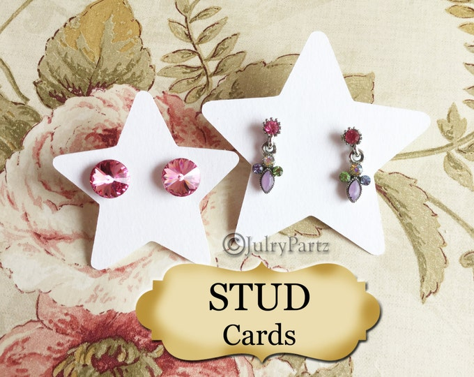 Star•STUD•EARRING Cards•Jewelry Cards•Earring Display•Post Earring Card•stud card 8