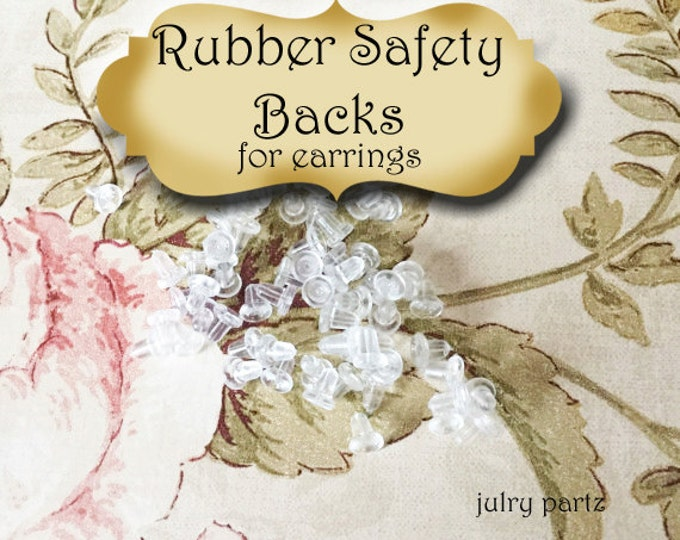 144 Clear Rubber Earring Backs•Card Holders•Earring Safety Backs