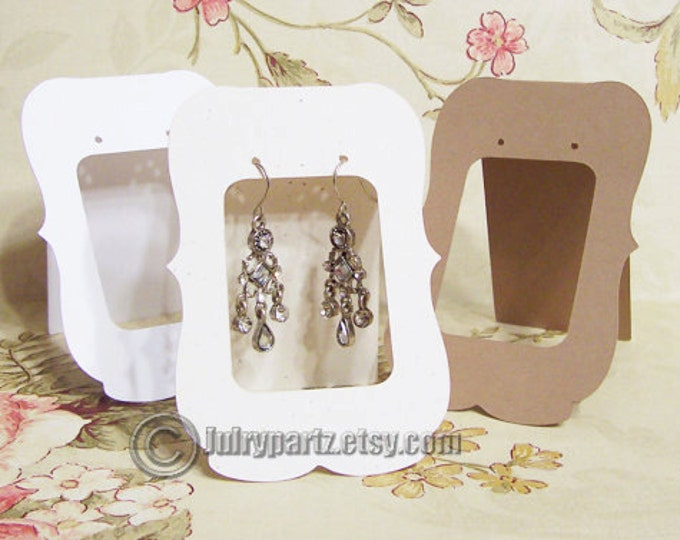 36•ZOE Window•2.5 x 3.5 inch•Tent Cards•EARRING CARDS•Jewelry Cards•Earring Display•Earring Card•Earring Holder