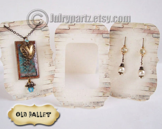 36•OLD PALLET•Zoe•Earring Cards•Jewelry cards•Necklace Card•Earring Display•Earring Holder•Necklace Holder