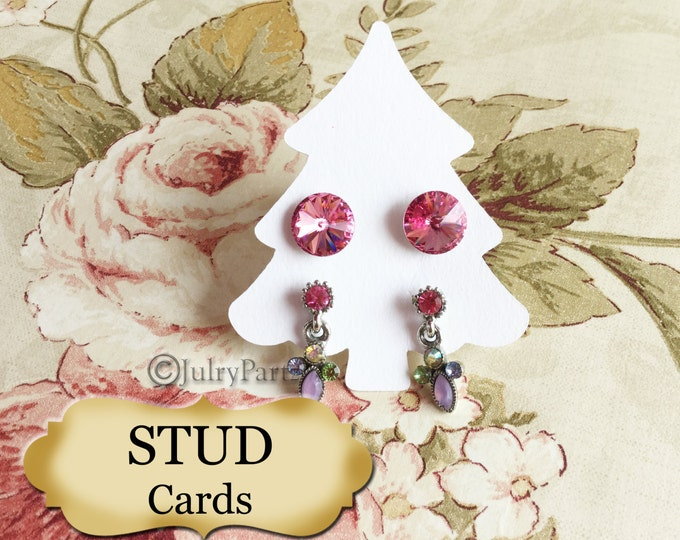 42•2 x 2.5 Tree •STUD•EARRING Cards•Jewelry cards•Earring Display•Post Earring Card•stud card 6