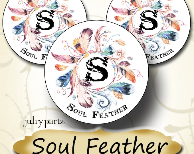 60•Custom•1.5 x 1.5 Round•STICKERS•Labels•Tags•Package Labels•Custom Stickers•Custom Labels•Soul Feather