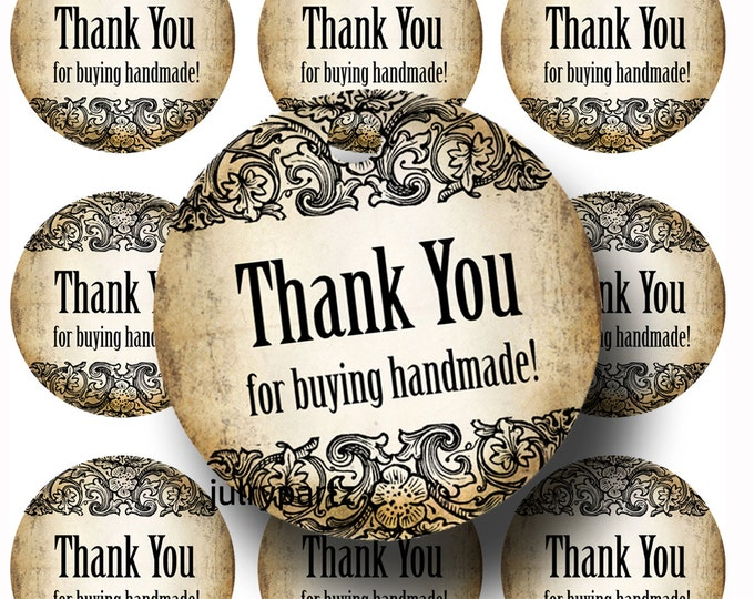 30-DIY Vintage Flip Tags•Gift Tags•Paper Tags•Price Tags•Clothing Tags•Thank you for buying handmade tags