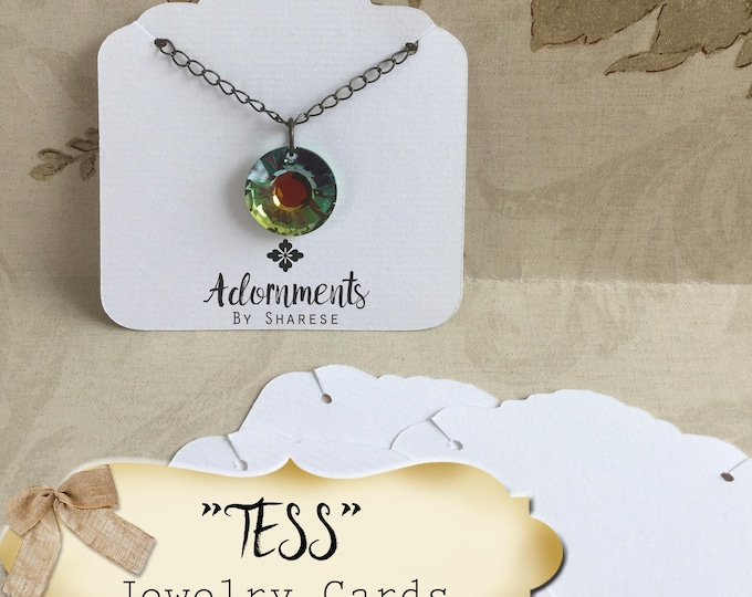 64•TESS•Necklace and Earring Cards•Jewelry Cards•Necklace Card•Display•Earring Holder•Necklace Holder