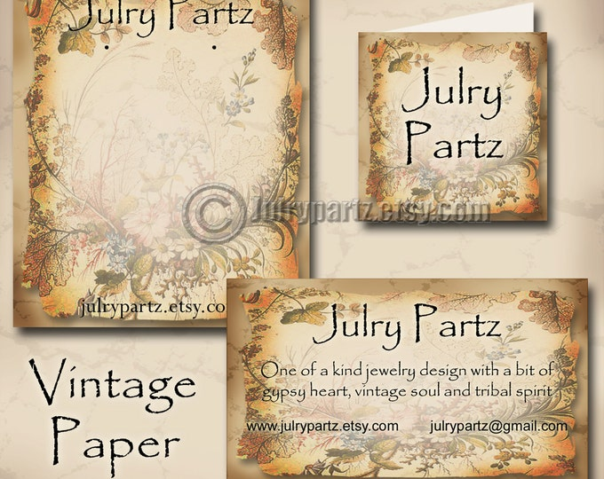 VINTAGE PAPER #2,Earring Cards,Jewelry cards,Earring Display,Earring Holder,Business Card, Custom Earring Card, Jewelry Tag